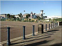 TG5307 : Car park bollards off Marine Parade by Evelyn Simak