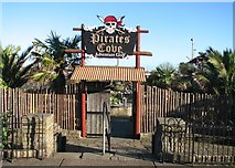 TG5307 : Entrance to Pirates Cove adventure golf by Evelyn Simak