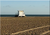 TG5307 : Lifeguards' station on Great Yarmouth's beach by Evelyn Simak