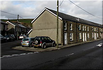 SS9389 : Row of stone houses, Bridge Street, Ogmore Vale by Jaggery