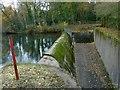 SK4848 : Spillway, Moorgreen Reservoir by Alan Murray-Rust