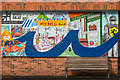 SO5174 : Mural #6, former Budgens, Upper Galdeford by Ian Capper