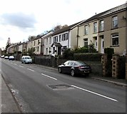 SS9389 : Semi-detached houses, Cemetery Road, Ogmore Vale by Jaggery