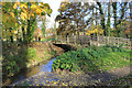 TQ1088 : River Pinn at Eastcote House by Des Blenkinsopp