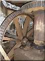 NY4756 : Warwick Bridge Mill - pit wheel and wallower by Chris Allen