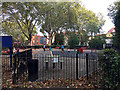 TQ3480 : Play area, Wapping Gardens by Robin Stott