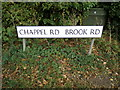 TL8925 : Road name signs on Chappel Road by Adrian Cable