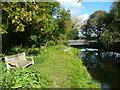 TL4945 : Closed footbridge across the River Cam or Granta by Humphrey Bolton