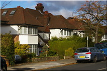 TQ2487 : Houses on Armitage Road, Golders Green by Christopher Hilton