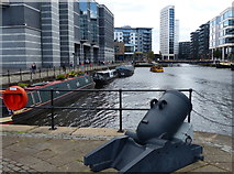 SE3032 : Cannon at Royal Armouries, Leeds Dock by Mat Fascione