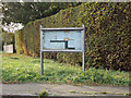 TL8923 : Little Tey Village Notice Board on Church Lane by Adrian Cable