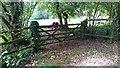 SU7839 : Gate on Sickles Road by John P Reeves