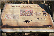SP3897 : Information board, Battle of Bosworth by Kate Jewell