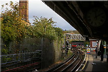 TQ2587 : Golders Green station: view towards the city by Christopher Hilton