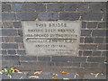 SP3165 : Adelaide Bridge, Leamington Spa - plaque by Stephen Craven