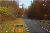 SK1887 : Bus stop at Hurst Clough by Stephen McKay