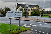 H6257 : Sign, Ballygawley Playing Fields by Kenneth  Allen