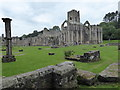 SE2768 : Looking towards the Chapel of the Nine Altars and Huby's Tower at Fountains Abbey by Marathon
