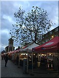 NY2623 : Keswick Market Stalls by Jennifer Petrie