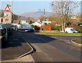 ST2490 : Warning sign - humps for ¾ mile, Channel View, Risca by Jaggery