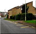 SS8980 : Zigzag yellow markings on Heol-y-frenhines, Bridgend by Jaggery