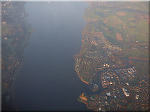 NS4074 : Dumbarton and the Firth of Clyde from the air by Thomas Nugent
