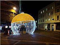 SZ0891 : Bournemouth: a big bauble in Old Christchurch Road by Chris Downer