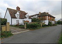 TL3142 : Litlington: Grove House and Coronation House by John Sutton
