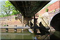 SK5907 : Underneath the footbridge beside Thurcaston Road bridge over the River Soar by Roger Templeman
