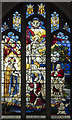 TL4195 : St Wendreda, March - Stained glass window by John Salmon