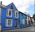 SN3859 : Shades of blue in New Quay by Jaggery