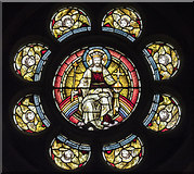 TL4196 : St Peter, March - Stained glass window by John Salmon