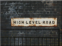 SD8912 : High Level Road, Rochdale - name sign by Stephen Craven