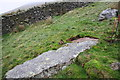 SD6684 : Rock slab beside wall above Barbondale by Roger Templeman