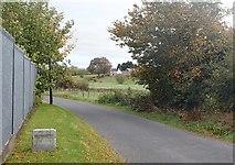 J2333 : Townland boundary marker on the Ballynagappoge Road by Eric Jones