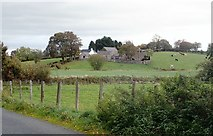 J2333 : A clachan of farmsteads on a private road leading from the Ballynagappoge Road by Eric Jones