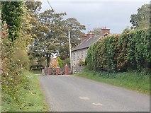 J2333 : Houses at Corbett's Hillhead on the Ballynagappoge Road by Eric Jones