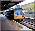 SO1500 : Cardiff Central train in Bargoed railway station by Jaggery