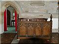 SP2160 : St James, Snitterfield - choir stalls by Stephen Craven