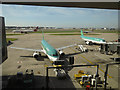 TQ0775 : Aer Lingus planes, Heathrow by Hugh Venables
