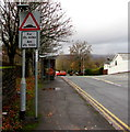 ST3090 : Warning sign - humps for 2½ miles, Bettws Lane, Newport by Jaggery