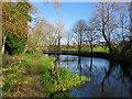 TL4945 : Hinxton: a footbridge over the Cam by John Sutton