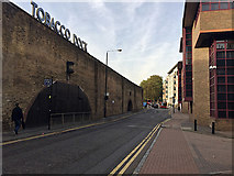 TQ3480 : North on Wapping Lane by Tobacco Dock, Wapping by Robin Stott