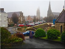 H4472 : A cold misty morning, Omagh by Kenneth  Allen
