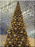 TQ3980 : Christmas tree in the London Piazza inside the O2 Arena by Rod Allday