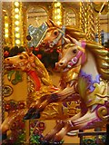 TQ2679 : Galloping horses on the carousel at the Natural History Museum by Rod Allday