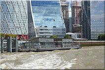 TQ3680 : Canary Wharf Pier by N Chadwick