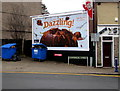 ST1494 : Dazzling Sainsbury's advert, Commercial Street, Ystrad Mynach by Jaggery