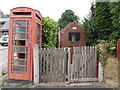 SO6694 : K6 Telephone Box and Telephone Exchange, Morville by David Hillas