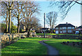 NY9964 : Small park at junction of Aydon Road and Milkwell Lane in Corbridge by Trevor Littlewood
